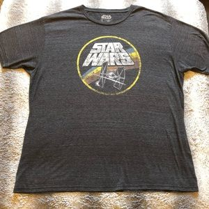 🛸 Star Wars Retro Style Tee Men's XL Grey